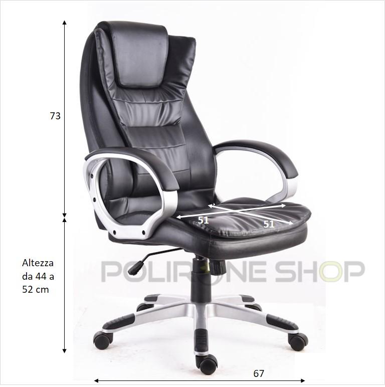 Poltrona sedia per ufficio presidenziale studio da x pc for Sedia ufficio economica
