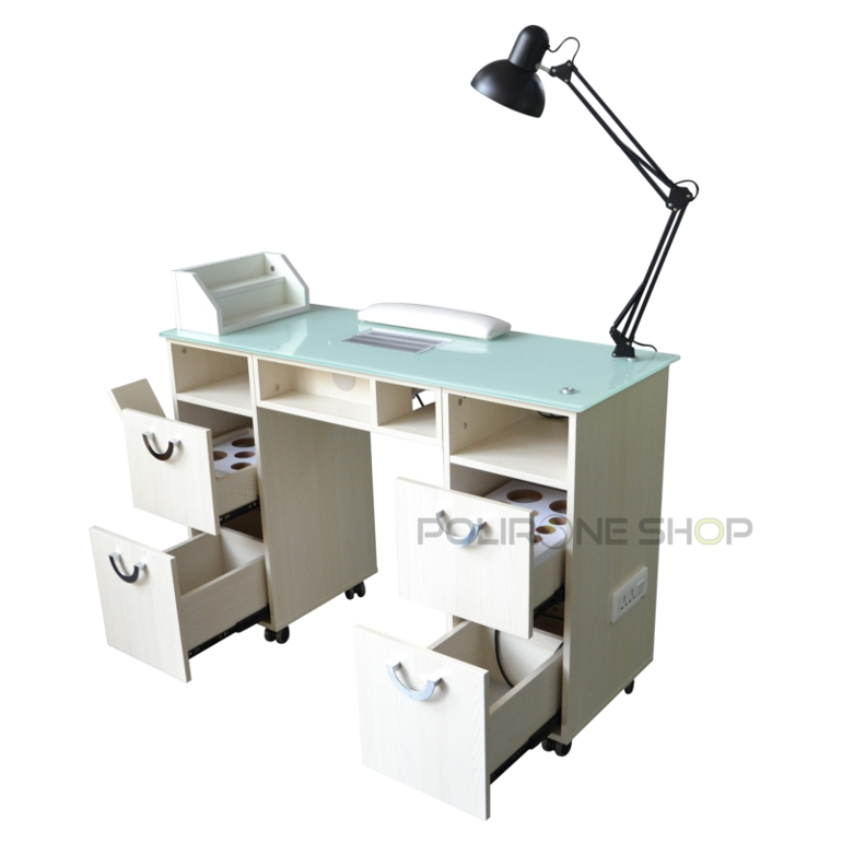 Cre tavolo per manicure ricostruzione unghie aspiratore onicotecnica tavolino x ebay - Lampada da tavolo per ricostruzione unghie ...