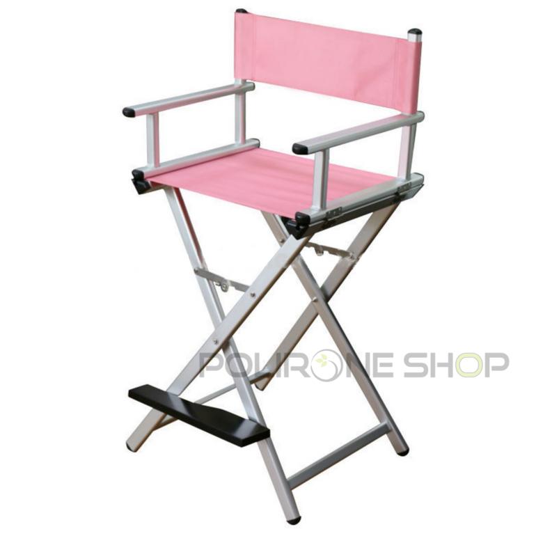Deva sedia trucco alluminio alta regista estetista for Sedia da regista