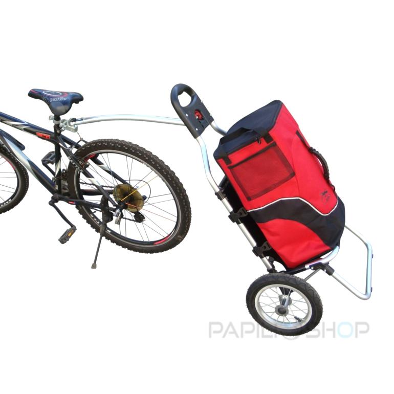 Rimorchio bici bicicletta per trasporto spesa trolley - Carrello per bici porta cani ...